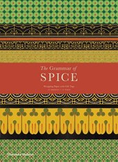 Grammar of spice gift wrapping paper with gift tags