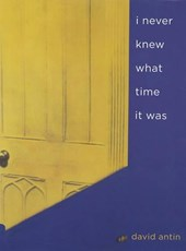 I Never Knew What Time it Was | David Antin |