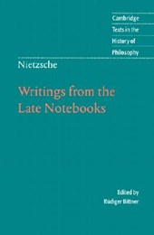 Writings from the Late Notebooks