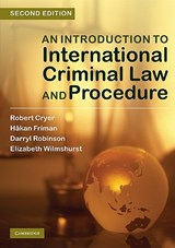 An Introduction to International Criminal Law and Procedure | Robert Cryer |