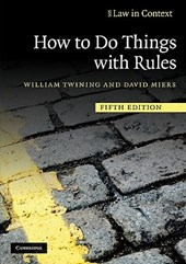 How to Do Things with Rules | William Twining |