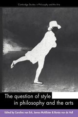 The Question of Style in Philosophy and the Arts | auteur onbekend |