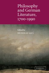 Philosophy and German Literature, 1700-1990 |  |