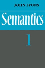 Semantics One | John Lyons |