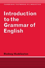 Introduction to the Grammar of English | Rodney Huddleston |