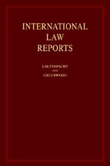International Law Reports | auteur onbekend |