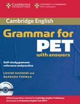 Cambridge Grammar for PET Book with Answers and Audio CD | auteur onbekend |