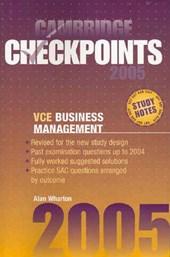 Cambridge Checkpoints Vce Business Management