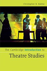 Cambridge Introductions to Literature | Christopher B Balme |