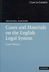 Cases and Materials on the English Legal System | Qc Zander Professor Michael |