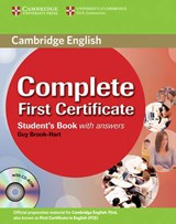 Complete First Certificate Student's Book with Answers [With CDROM] | Guy Brook-Hart |