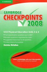 Cambridge Checkpoints Vce Physical Education Units 3 and | Christine McCallum |