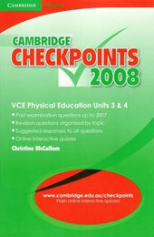 Cambridge Checkpoints Vce Physical Education Units 3 and