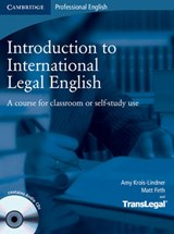 Introduction to International Legal English Student's Book w | Amy Krois-Lindner |