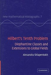 Hilbert's Tenth Problem | Alexandra Shlapentokh |