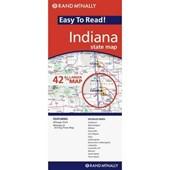 Rand Mcnally Easy to Read Indiana