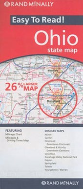 Rand McNally Easy to Read! Ohio State Map |  |