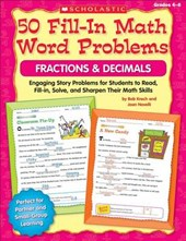 50 Fill-In Math Word Problems Fractions & Decimals
