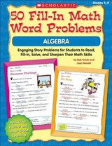 50 Fill-In Math Word Problems Algebra | Bob Krech |