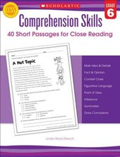 Comprehension Skills, Grade | Linda Ward Beech |