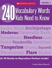 240 Vocabulary Words Kids Need to Know, Grade 5