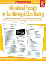 Informational Passages for Text Marking & Close Reading: Grade | Martin Lee; Marcia Miller |