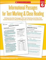 Informational Passages for Text Marking & Close Reading Grade | Miller, Marcia ; Lee, Martin |