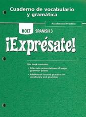 Holt Spanish 3 Cuaderno de Vocabulario y Gramatica