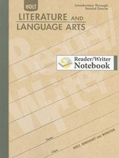 Holt Literature and Language Arts Reader/Writer Notebook