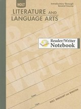 Holt Literature and Language Arts Reader/Writer Notebook |  |