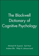 The Blackwell Dictionary of Cognitive Psychology | Michael W. Eysenck |