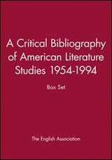 A Critical Bibliography of American Literature Studies 1954-1994 | The English Association |