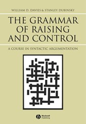 The Grammar of Raising and Control | William D. Davies |
