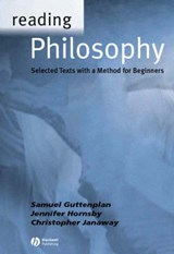 Reading Philosophy | Samuel D. Guttenplan & Jennifer Hornsby & Christopher Janaway |