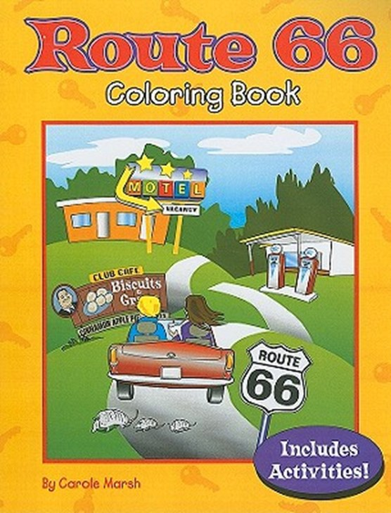 Route 66 Coloring Book