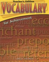 Vocabulary for Achievement | Margaret Ann Richek |