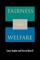 Fairness Versus Welfare | Louis Kaplow |