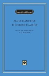 The Greek Classics | Aldus Manutius |