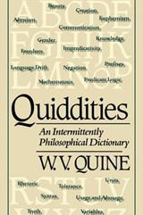 Quiddities - An Intermittently Philosophical Dictionary (Paper) | W.V. [willard Van Orman] Quine |