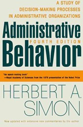 Administrative Behavior, 4th Edition | Herbert A Simon |