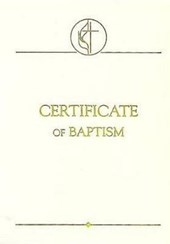 United Methodist Covenant II Child Baptism Certificate, Package of