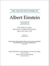 The Collected Papers of Albert Einstein, Volume - The Berlin Years: Writings & Correspondence, June 1925-May 1927
