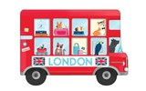 London Bus Shaped Cover Sticky Notes | auteur onbekend |