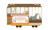 San Francisco Cable Car Shaped Cover Sticky Notes