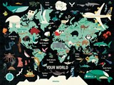 Map of the world 1000pc family puzzle | Mudpuppy |