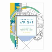 Frank lloyd wright 16 coloring postcards