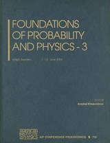 Foundations of Probability and Physics - | auteur onbekend |