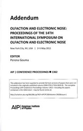 Oflaction & Electronic Nose Proceedings of the 14th Intl Symposium on Oflaction & Electronic Nose
