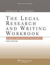 The Legal Research and Writing Workbook | Yelin, Andrea B.; Samborn, Hope Viner |