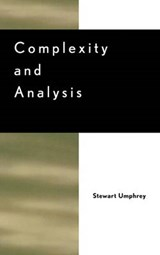 Complexity and Analysis | Stewart Umphrey |